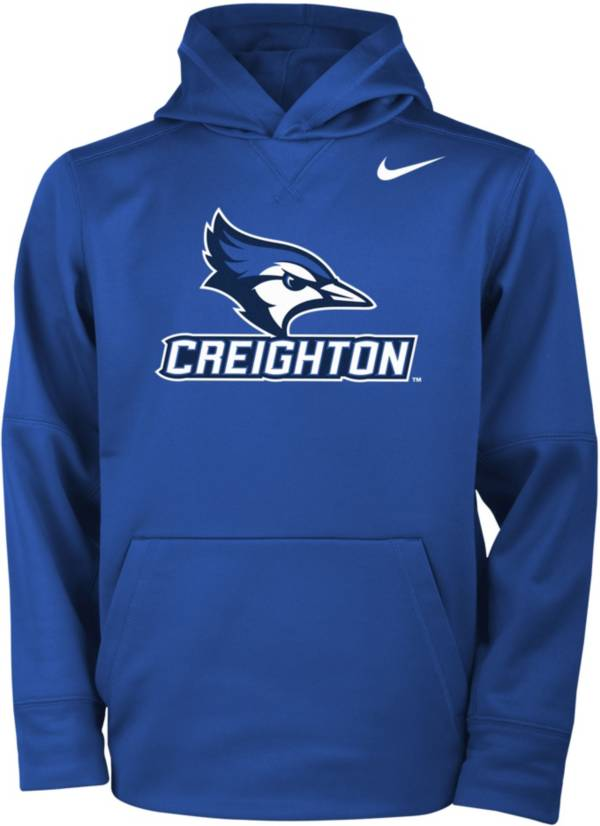 Nike Youth Creighton Bluejays Blue Therma Fleece Hoodie product image