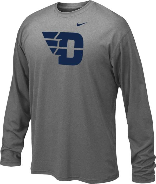 Nike Youth Dayton Flyers Grey Legend Core Long Sleeve Shirt product image