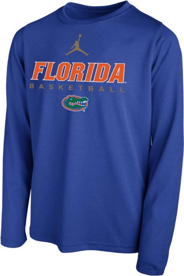 Jordan Youth Florida Gators Blue Hook Dri-FIT Legend Long Sleeve Basketball T-Shirt product image