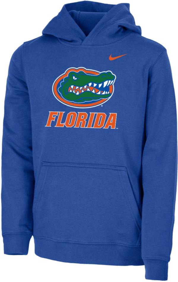 Nike Youth Florida Gators Blue Club Fleece Pullover Hoodie product image