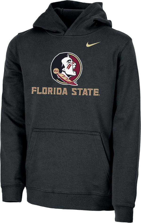Nike Youth Florida State Seminoles Club Fleece Pullover Black Hoodie product image