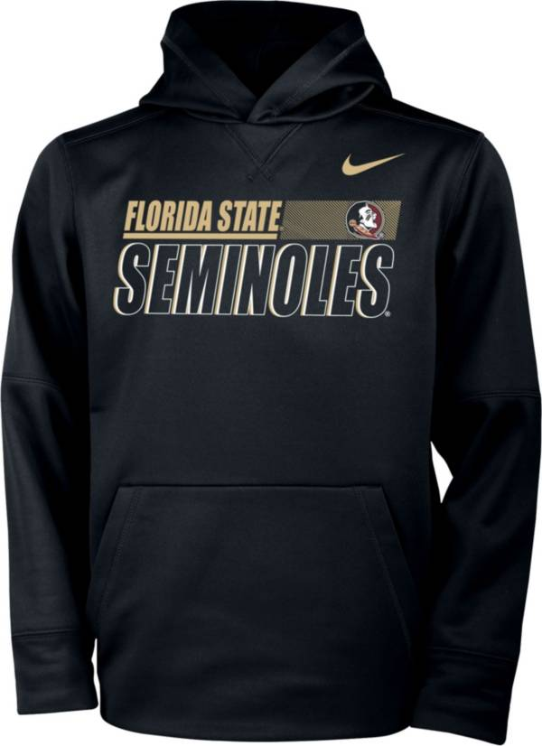 Nike Youth Florida State Seminoles Therma Pullover Black Hoodie product image