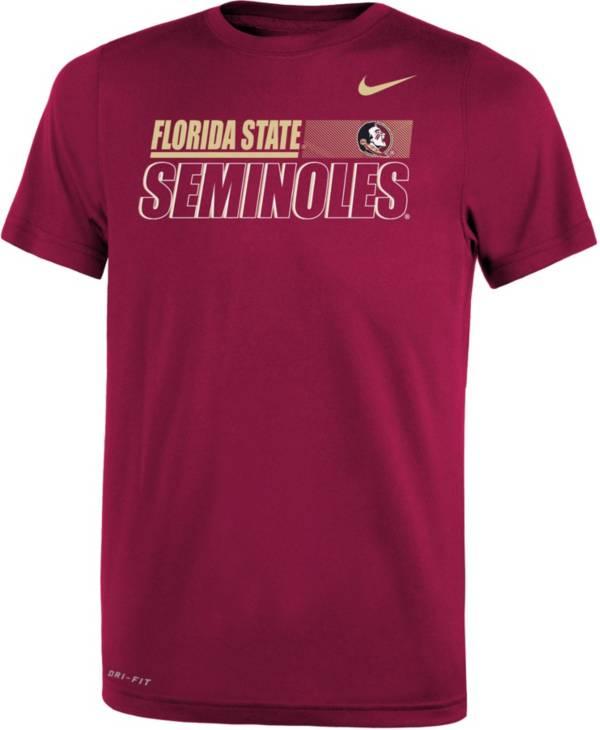 Nike Youth Florida State Seminoles Garnet Dri-FIT Legend Performance T-Shirt product image