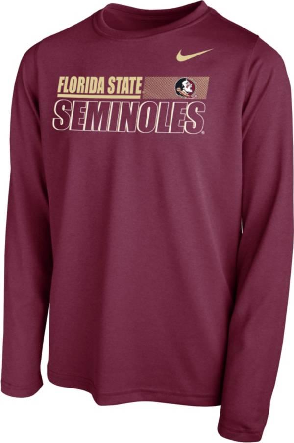 Nike Youth Florida State Seminoles Garnet Legend Long Sleeve Performance T-Shirt product image