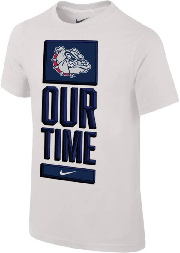 Nike Youth Gonzaga Bulldogs 'Our Time' Bench White T-Shirt product image