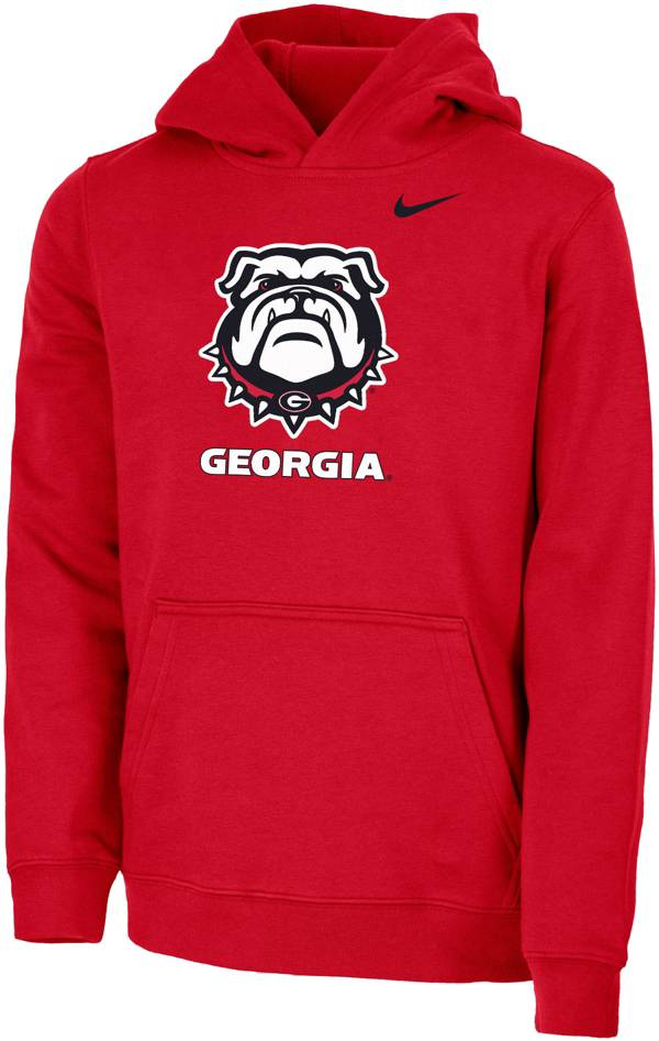 Nike Youth Georgia Bulldogs Red Club Fleece Pullover Hoodie product image
