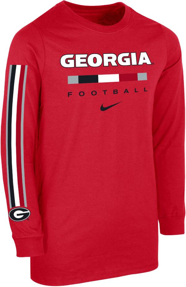 Nike Youth Georgia Bulldogs Red Core Long Sleeve Cotton Football T-Shirt product image