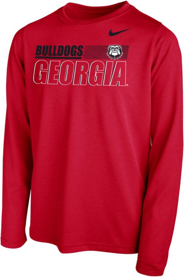 Nike Youth Georgia Bulldogs Red Legend Long Sleeve Performance T-Shirt product image