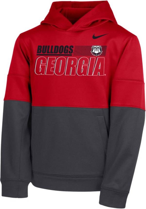 Nike Youth Georgia Bulldogs Red Therma Color Block Pullover Hoodie product image