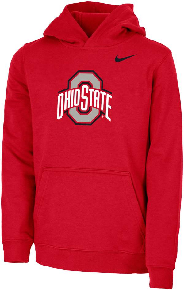Nike Youth Ohio State Buckeyes Scarlet Club Fleece Pullover Hoodie product image
