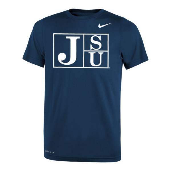 Nike Youth Jackson State Tigers Navy Legend Logo T-Shirt product image