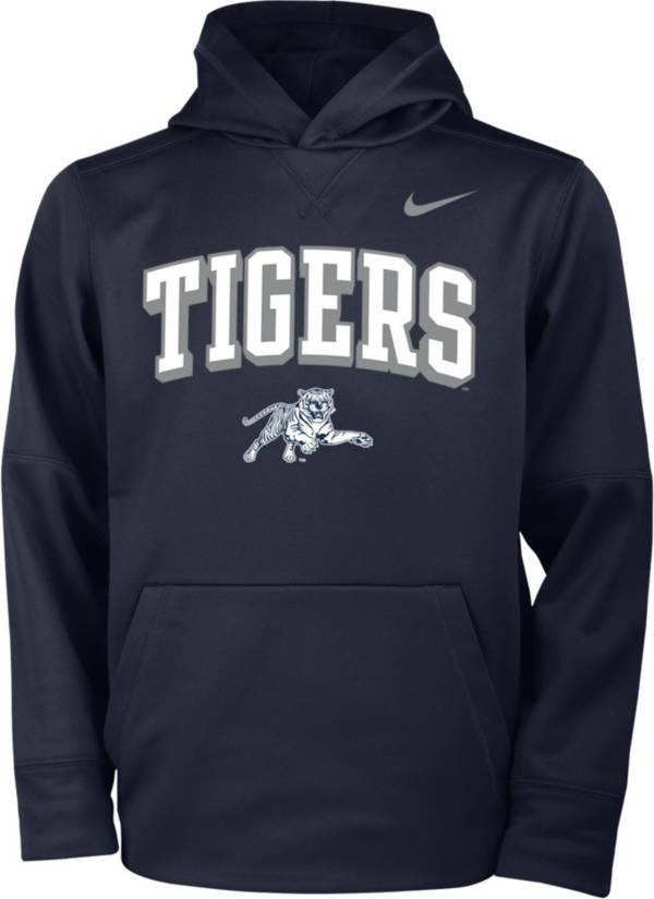 Nike Youth Jackson State Tigers Navy Blue Therma Pullover Hoodie product image