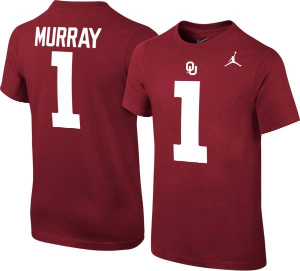 Jordan Youth Kyler Murray Oklahoma Sooners #1 Crimson College Alumni Core T-Shirt product image