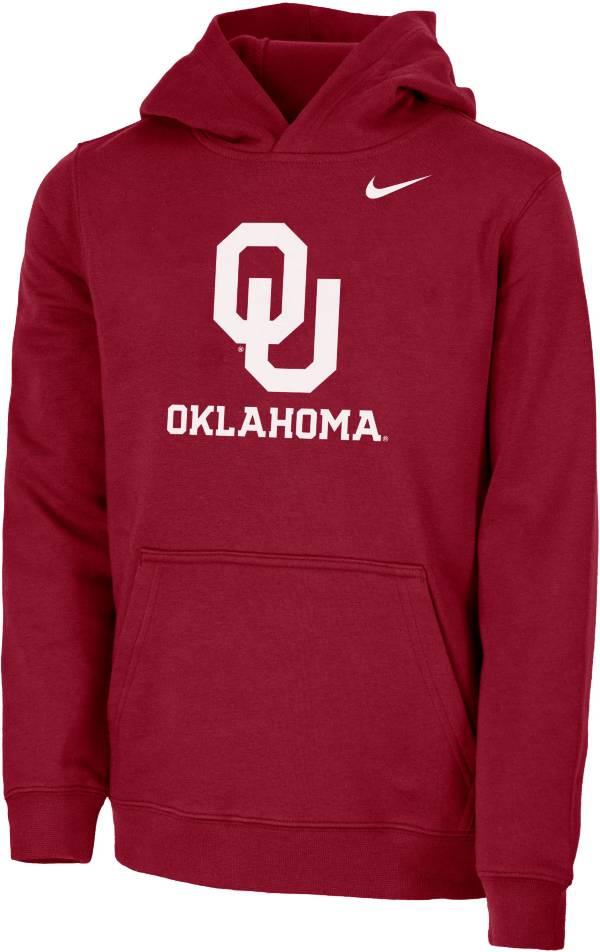 Nike Youth Oklahoma Sooners Crimson Club Fleece Pullover Hoodie product image