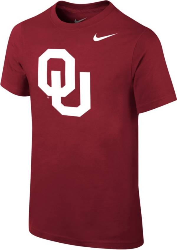 Nike Youth Oklahoma Sooners Crimson Core Cotton T-Shirt product image