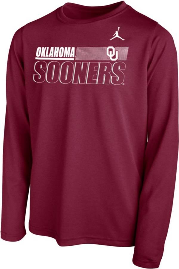 Nike Youth Oklahoma Sooners Crimson Legend Long Sleeve Performance T-Shirt product image