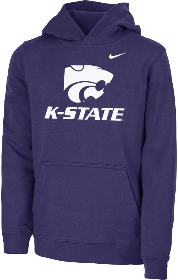 Nike Youth Kansas State Wildcats Purple Club Fleece Pullover Hoodie product image