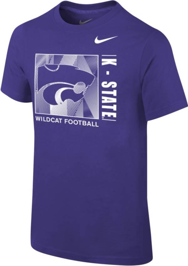 Nike Youth Kansas State Wildcats Purple Core Cotton T-Shirt product image