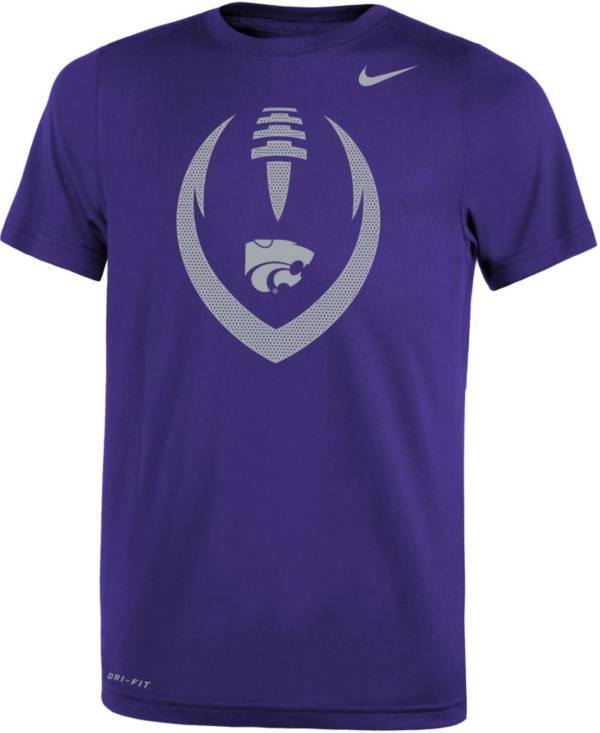 Nike Youth Kansas State Wildcats Purple Legend Performance Football T-Shirt product image