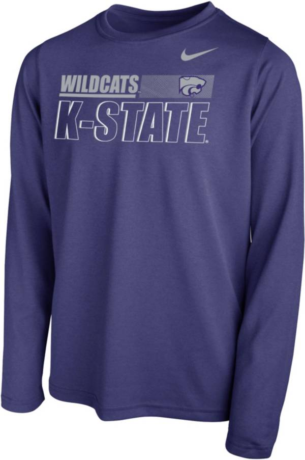 Nike Youth Kansas State Wildcats Purple Legend Long Sleeve Performance T-Shirt product image