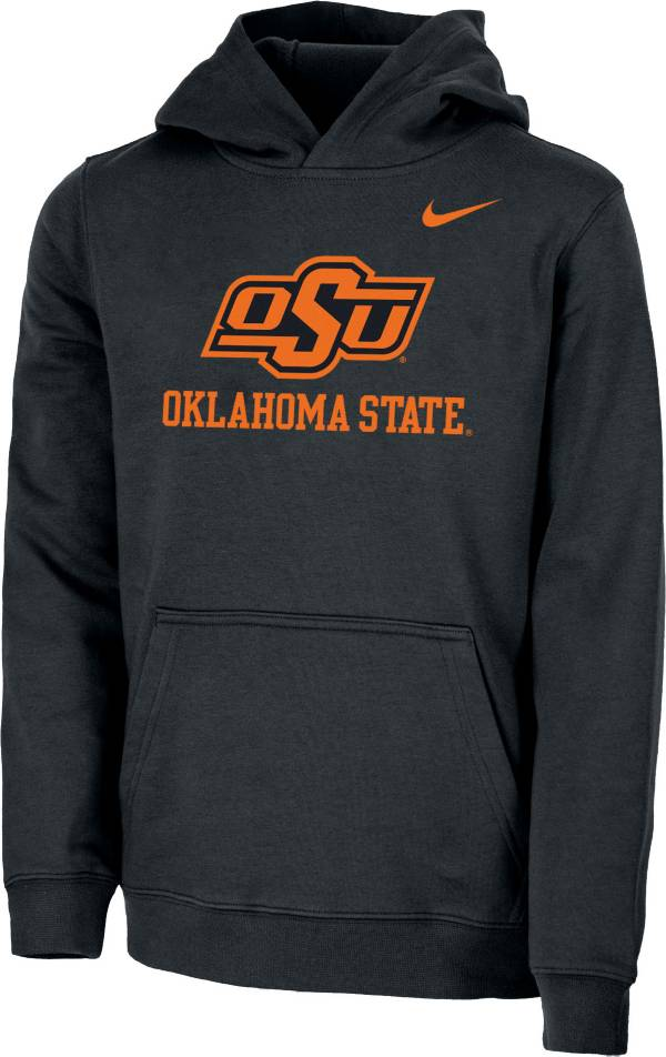 Nike Youth Oklahoma State Cowboys Club Fleece Pullover Black Hoodie product image