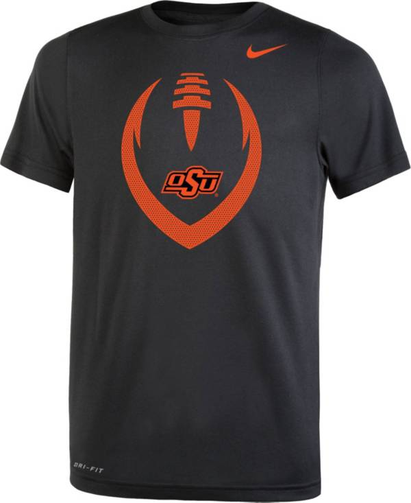 Nike Youth Oklahoma State Cowboys Legend Performance Football Black T-Shirt product image