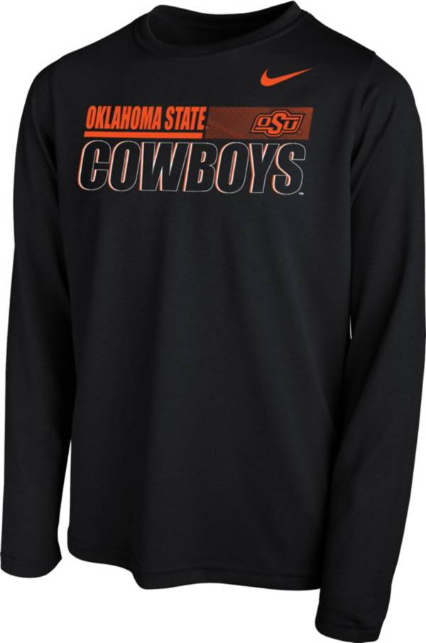Nike Youth Oklahoma State Cowboys Legend Long Sleeve Performance Black T-Shirt product image