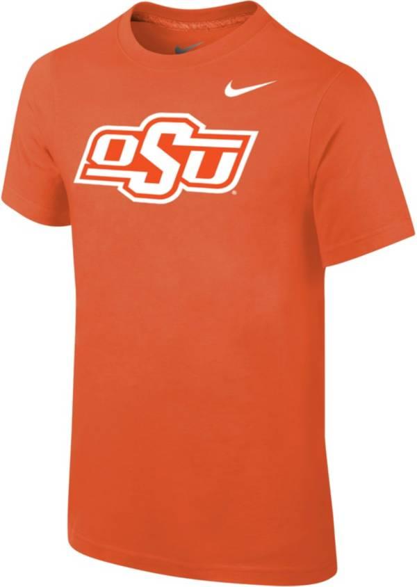 Nike Youth Oklahoma State Cowboys Orange Cotton Logo T-Shirt product image