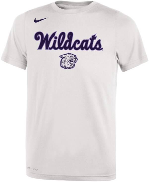 Nike Youth Kansas State Wildcats Dri-FIT Legend Retro White T-Shirt product image