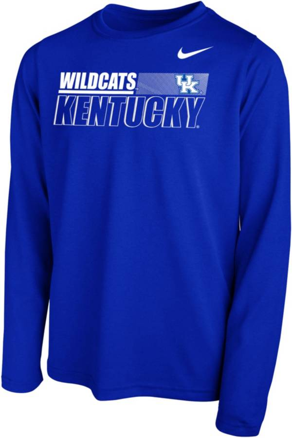 Nike Youth Kentucky Wildcats Blue Legend Long Sleeve Performance T-Shirt product image