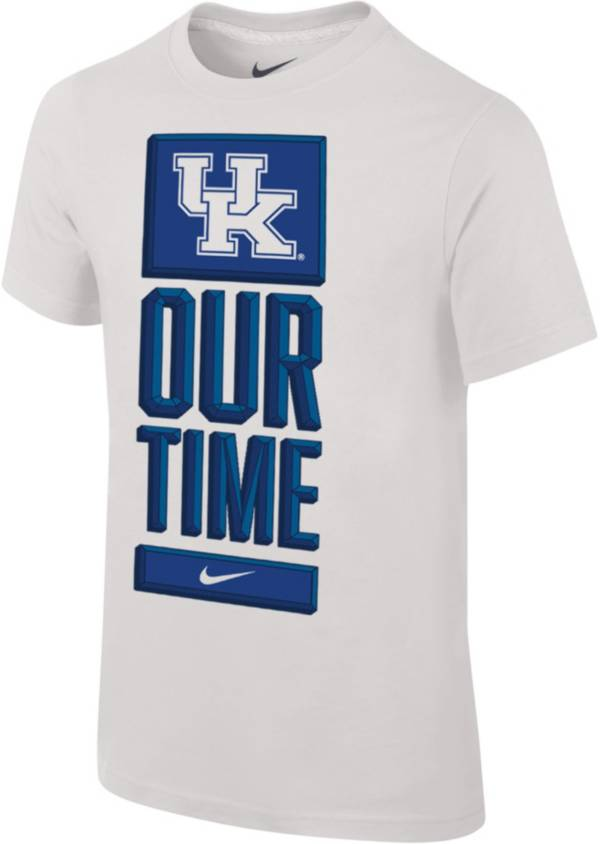 Nike Youth Kentucky Wildcats 'Our Time' Bench White T-Shirt product image