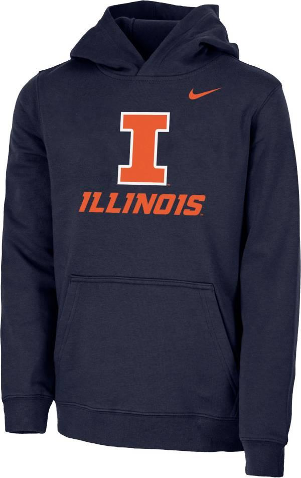 Nike Youth Illinois Fighting Illini Blue Club Fleece Pullover Hoodie product image