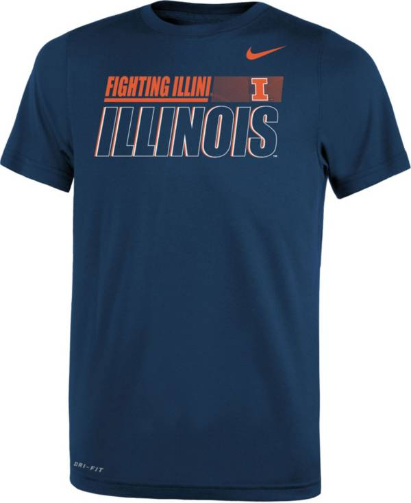 Nike Youth Illinois Fighting Illini Blue Dri-FIT Legend Performance T-Shirt product image