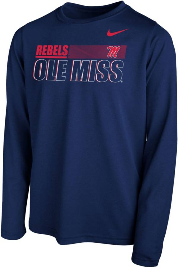 Nike Youth Ole Miss Rebels Blue Legend Long Sleeve Performance T-Shirt product image
