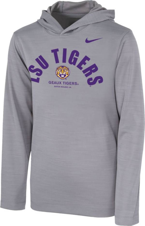 Nike Youth LSU Tigers Grey Pullover Hoodie product image