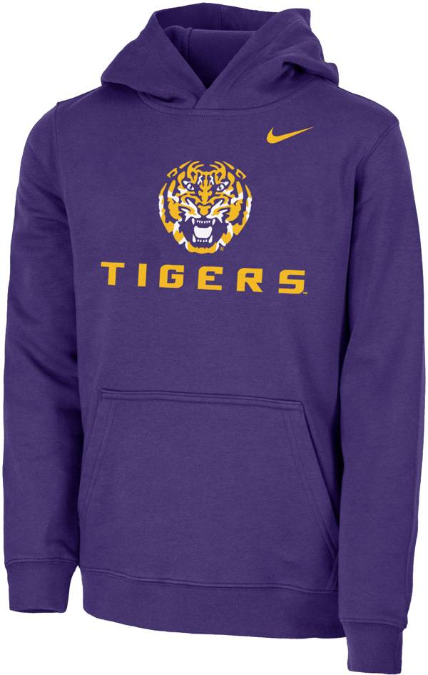 Nike Youth LSU Tigers Purple Club Fleece Pullover Hoodie product image