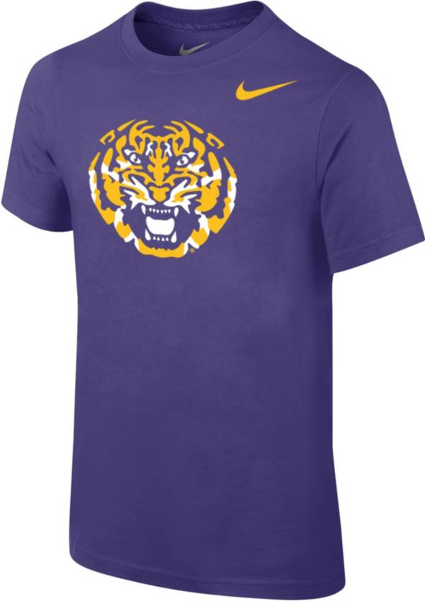 Nike Youth LSU Tigers Purple Core Cotton T-Shirt product image
