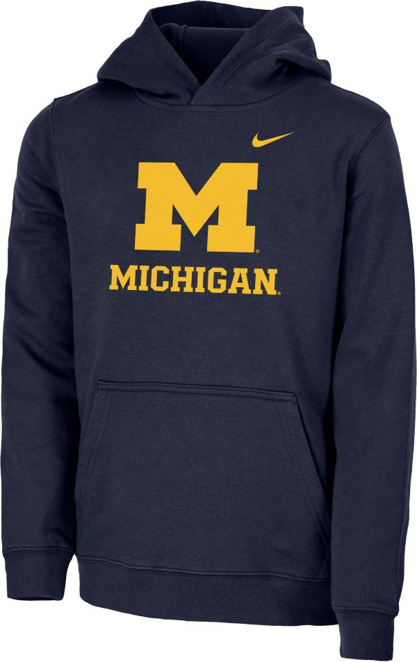 Nike Youth Michigan Wolverines Blue Club Fleece Pullover Hoodie product image