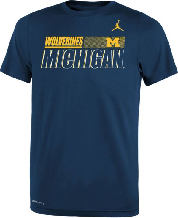 Nike Youth Michigan Wolverines Blue Dri-FIT Legend Performance T-Shirt product image