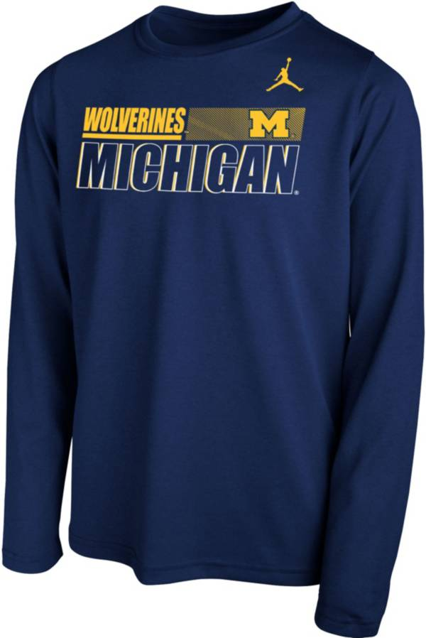 Nike Youth Michigan Wolverines Blue Legend Long Sleeve Performance T-Shirt product image