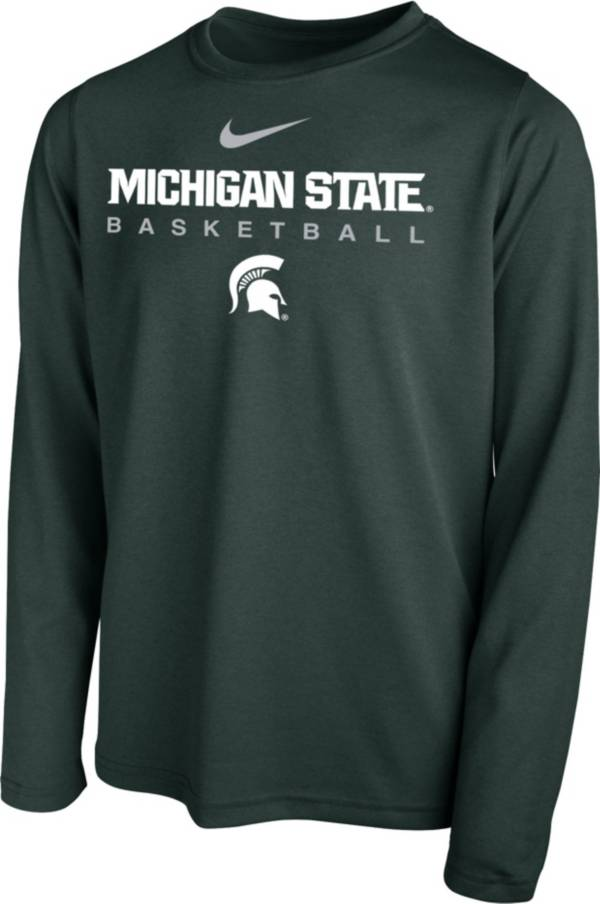 Nike Youth Michigan State Spartans Green Hook Dri-FIT Legend Long Sleeve Basketball T-Shirt product image