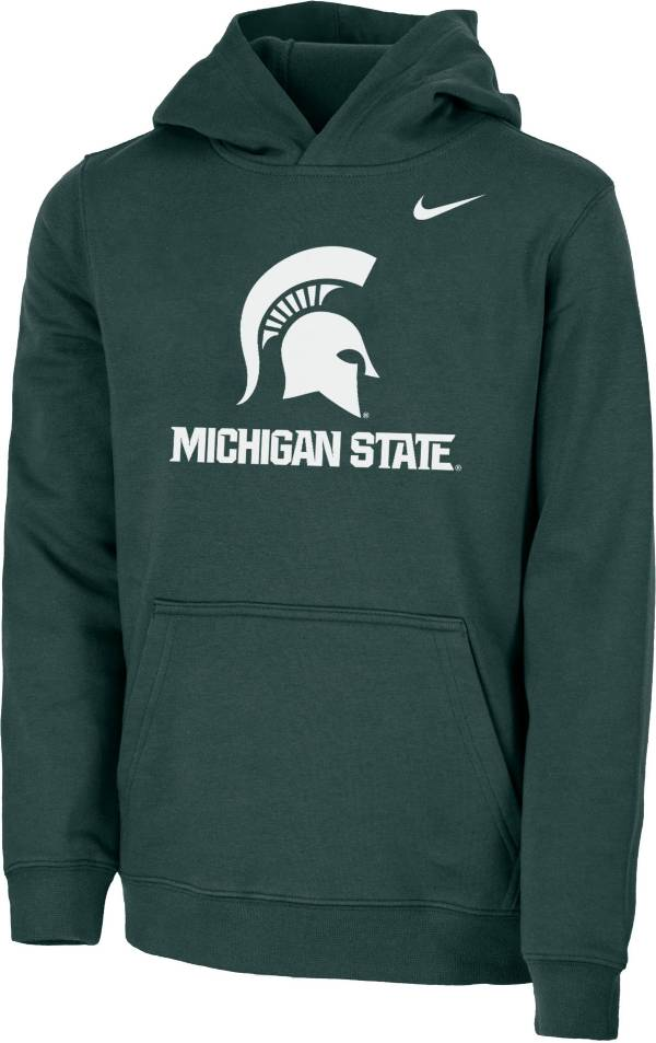 Nike Youth Michigan State Spartans Green Club Fleece Pullover Hoodie product image