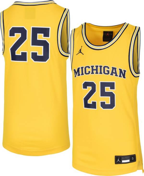 Jordan Youth Michigan Wolverines #1 Maize Replica Basketball Jersey product image