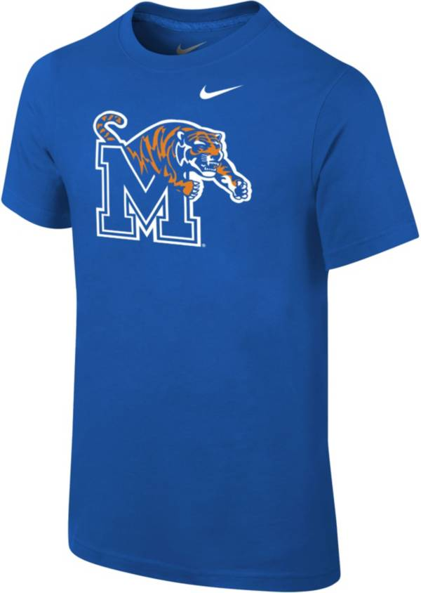 Nike Youth Memphis Tigers Blue Core Cotton T-Shirt product image