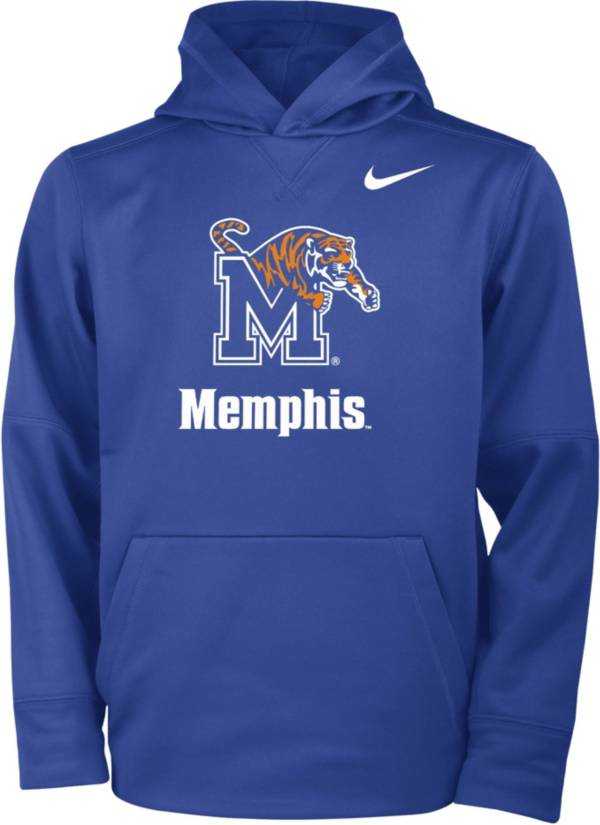 Nike Youth Memphis Tigers Blue Therma Pullover Hoodie product image