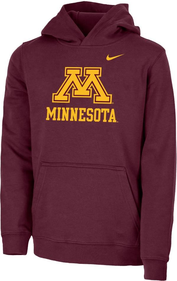 Nike Youth Minnesota Golden Gophers Maroon Club Fleece Pullover Hoodie product image