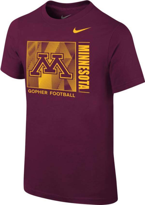 Nike Youth Minnesota Golden Gophers Maroon Core Cotton T-Shirt product image