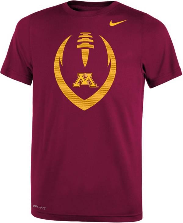 Nike Youth Minnesota Golden Gophers Maroon Legend Performance Football T-Shirt product image