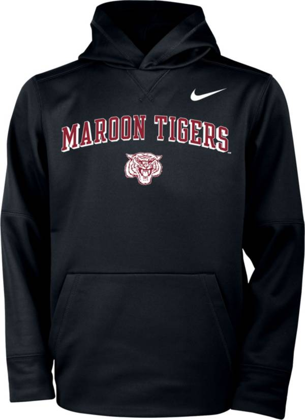 Nike Youth Morehouse College Maroon Tigers Therma Pullover Black Hoodie product image