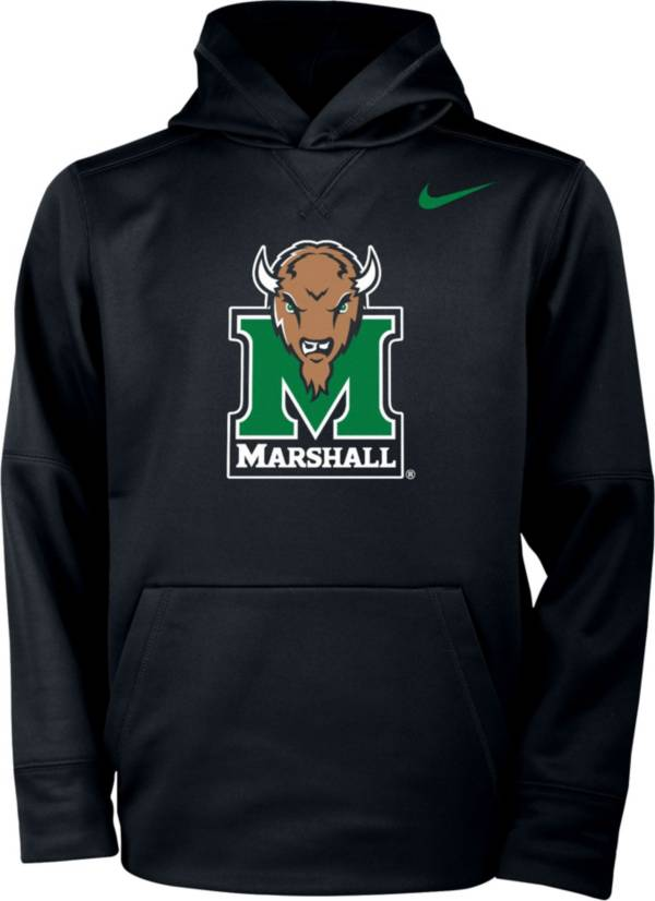 Nike Youth Marshall Thundering Herd Therma Pullover Black Hoodie product image